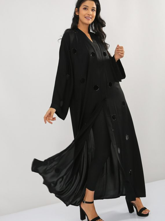 Applique Dot Abaya-MAHA ABAYAS