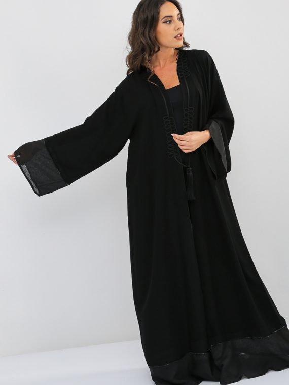 Applique Embroidered Abaya-Nahala