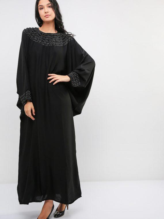 Bead Detail Farasha Abaya-MAHA ABAYAS