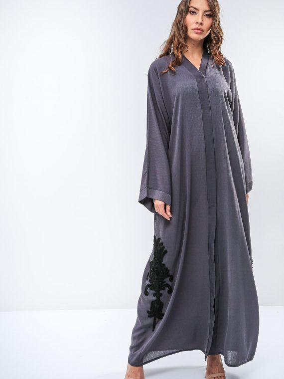 Casual Embellished Back Abaya-Roza