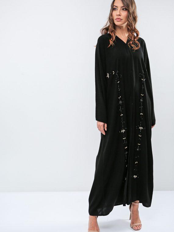 Classic Embellished Abaya-Roza