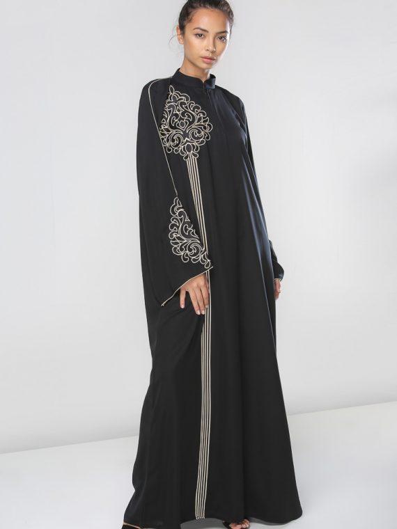Collar Neck Abaya-Haya