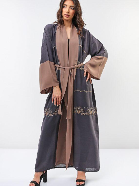 Color Contrast Abaya-Roza