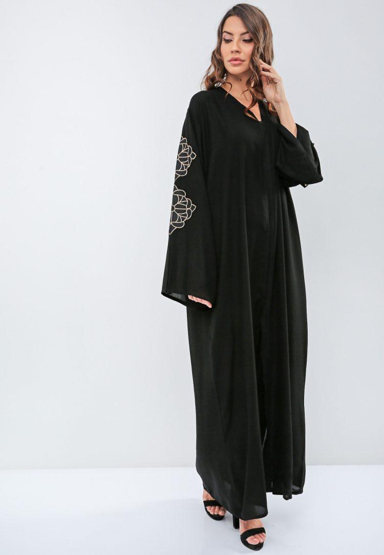 Diamond Stitched Abaya-Roza