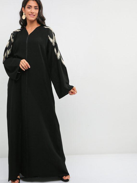 Elegant Embellished Abaya-Haya