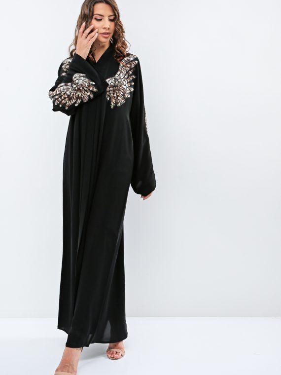 Embellished Front Abaya-Haya
