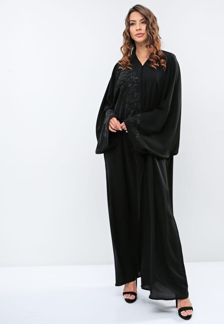 Embellished Wide Sleeves Abaya-Haya