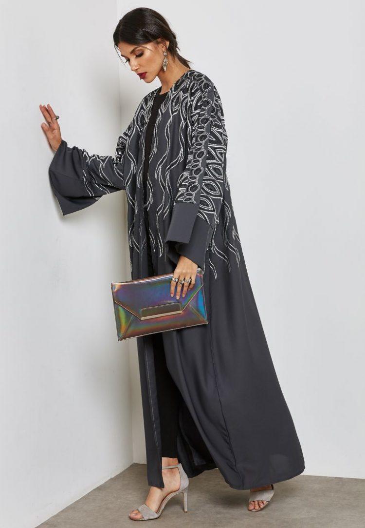 Embroidered Top Abaya - Haya's Closet