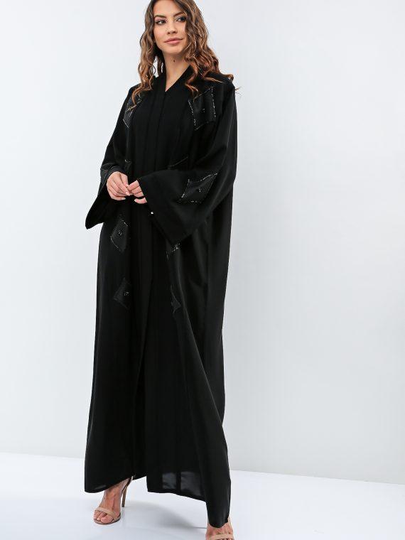 Embroidered Wide Sleeves Abaya-Haya
