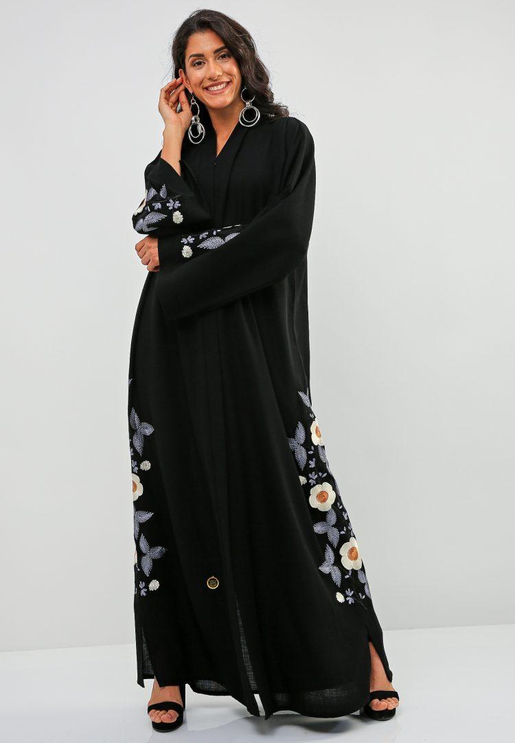 Floral Embellished Abaya-Bousni