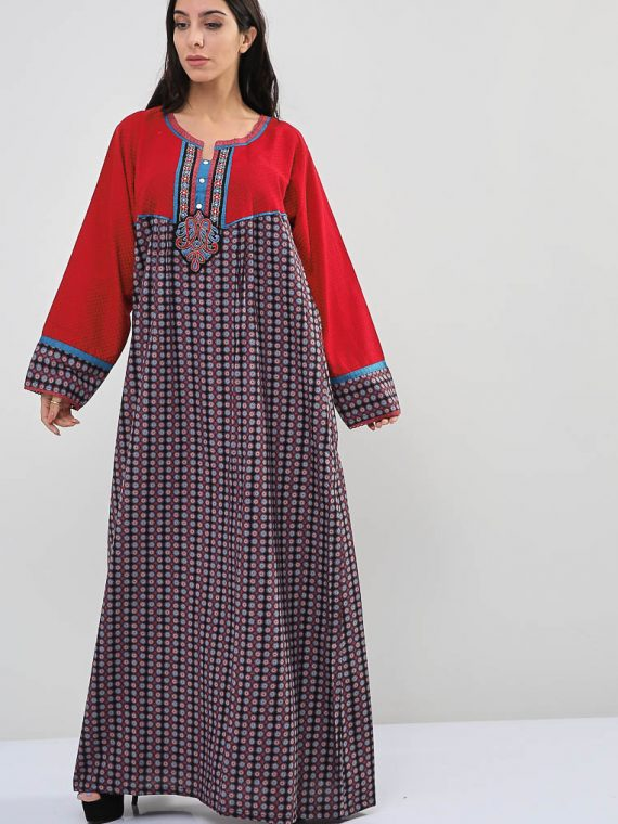 Floral-Polka Dot Inspired Jalabiyas-Sara Arabia