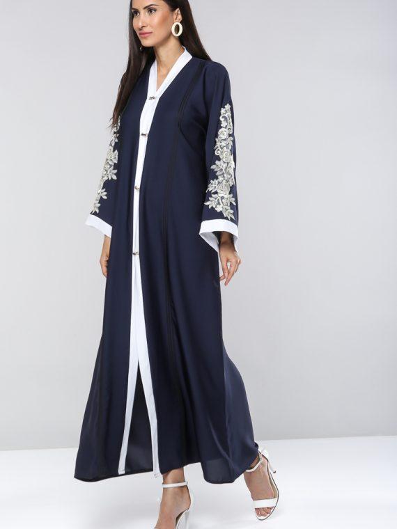 Floral Sleeve Detailing Abaya-Dubai Abaya