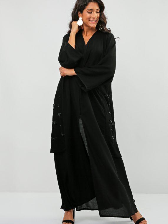 Frill Hem Abaya-Bousni