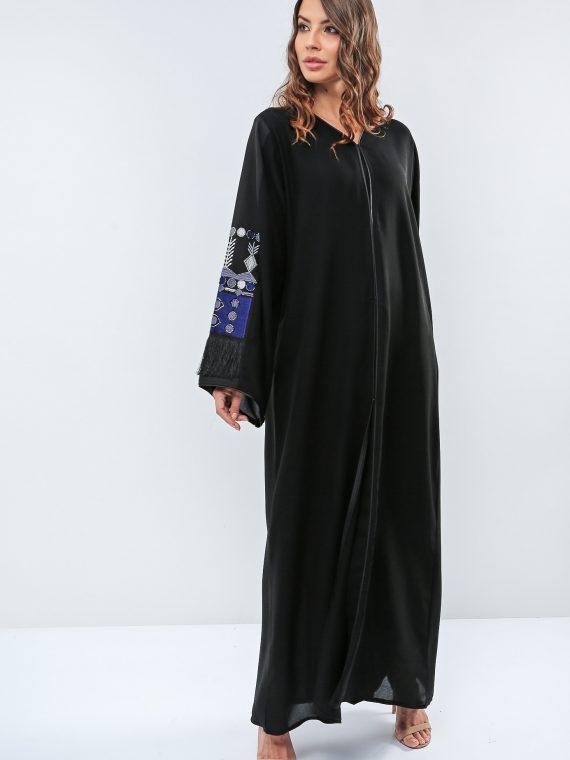 Fringed Embellished Abaya-Roza