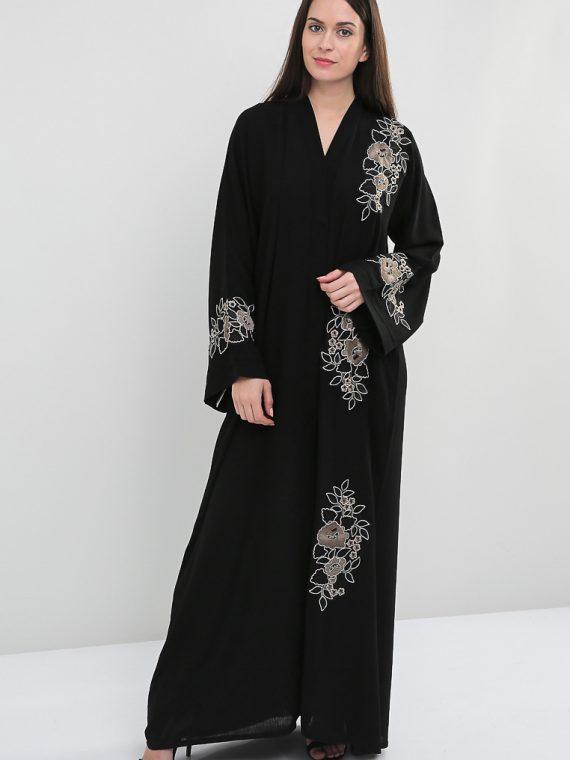 Front Embellished Abaya-Haya