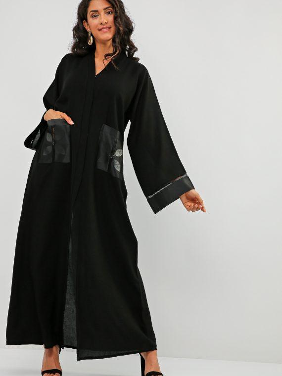 Front Pockets Abaya-Bousni