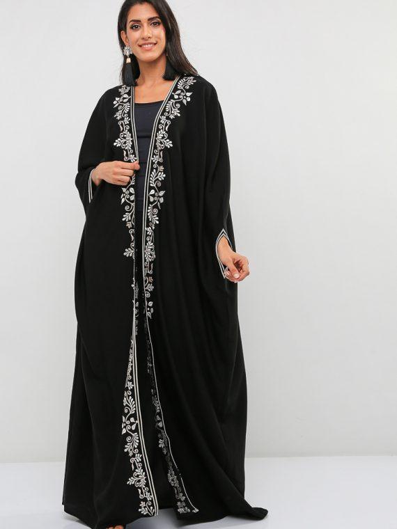Full Length Embroidered Abaya-Bowbo