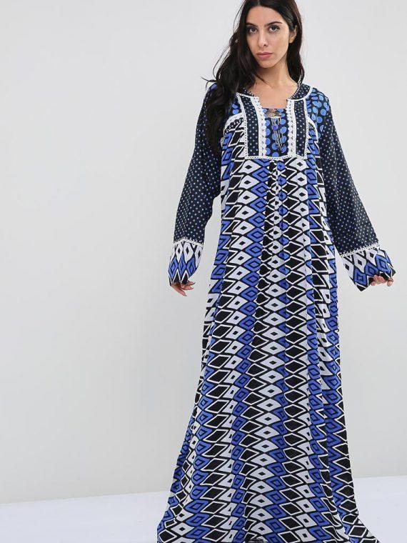 Harlequin-Polka Dot Inspired Jalabiyas-Sara Arabia
