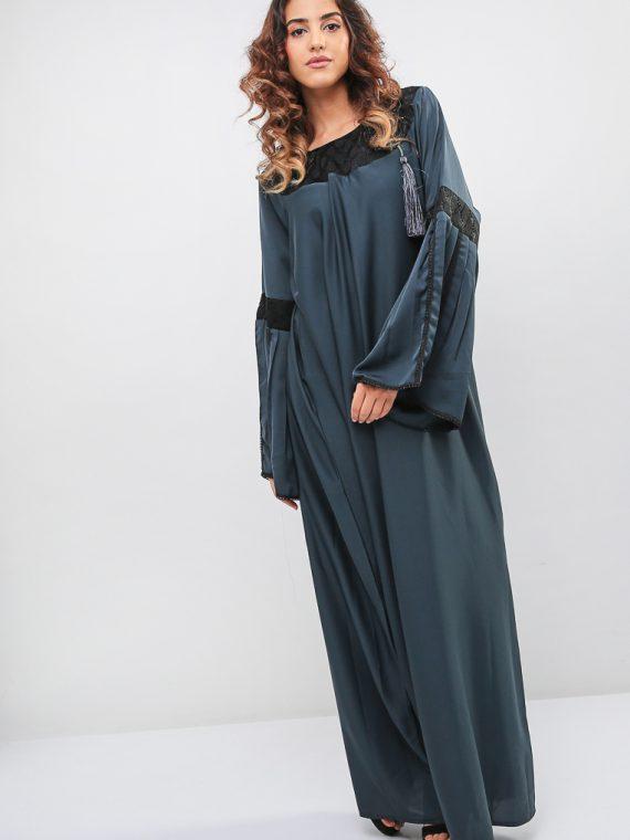 Lace Detail Abaya-MAHA ABAYAS