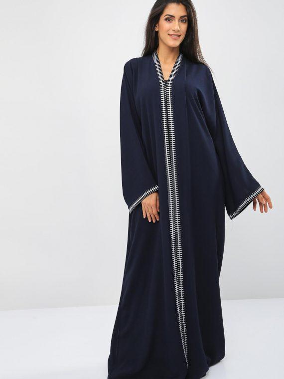 Lace Embellished Abaya-Bousni