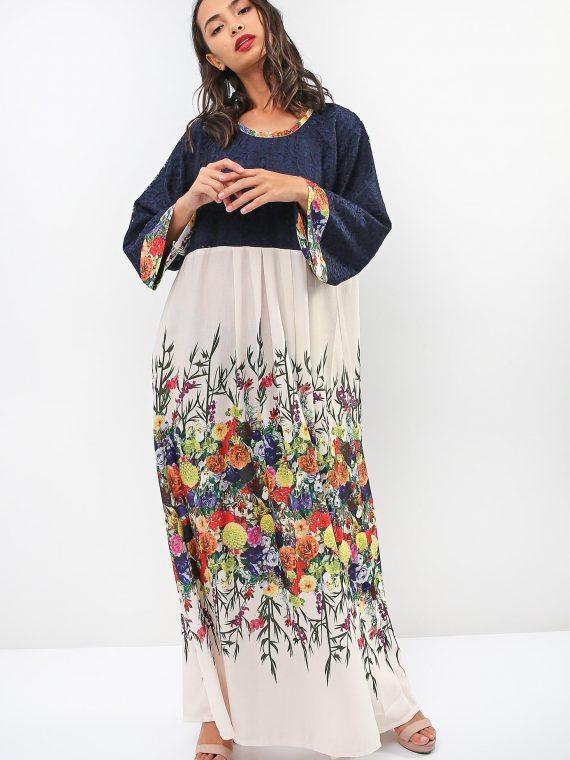 Lace Floral Jalabiya-Sara Arabia