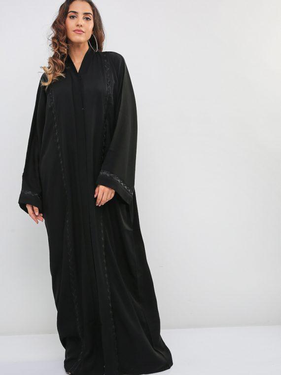 Lace Insert Abaya-MAHA ABAYAS