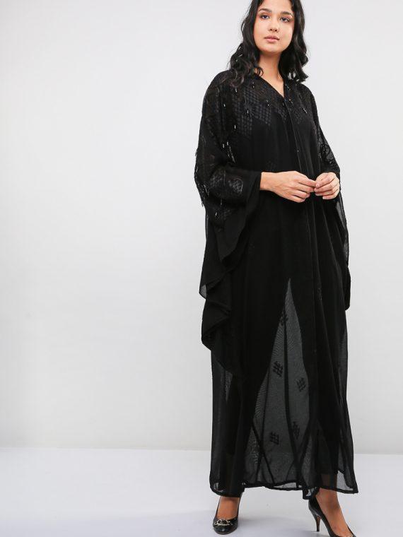 Lace Top Abaya-MAHA ABAYAS
