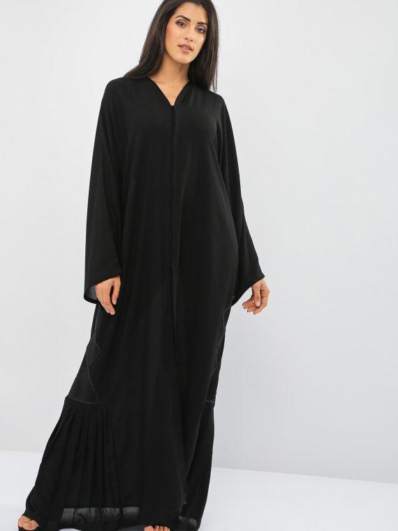 Laced Embellished Abaya-Bousni