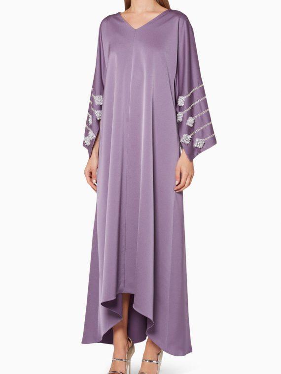 Lavender Embellished Kaftan-SHATHA ESSA