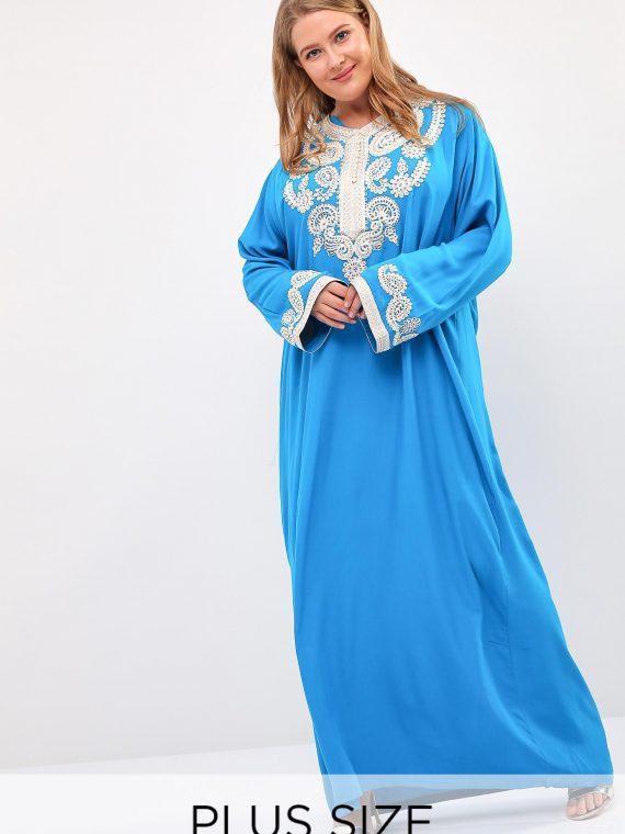 Light Blue Lace Cuffs Jalabiya-Christian Intimate