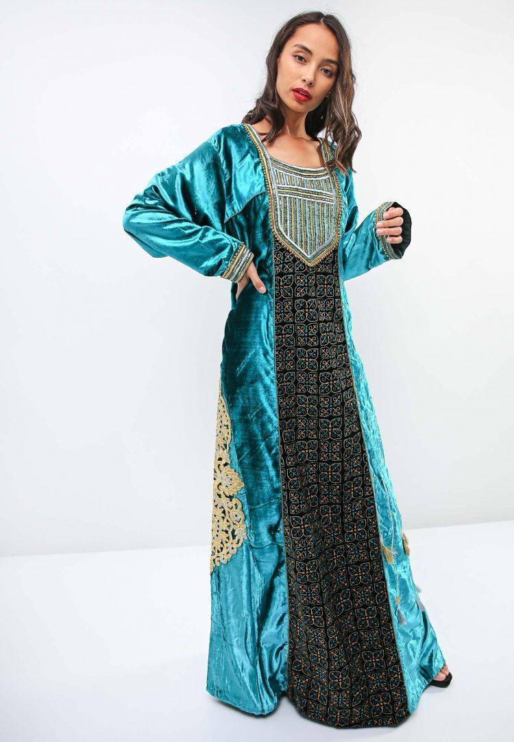 Metallic Thread and Tassel Accent Jalabiya-Sara Arabia