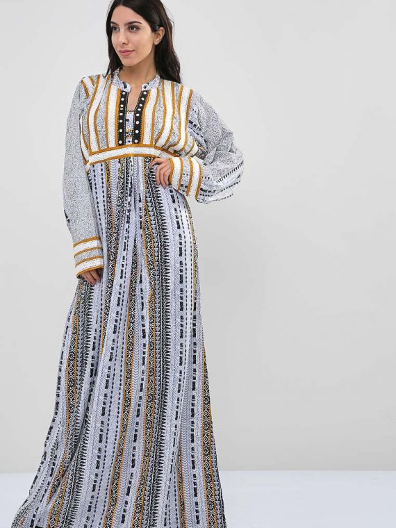 Mixed Print Inspired Jalabiyas-Sara Arabia