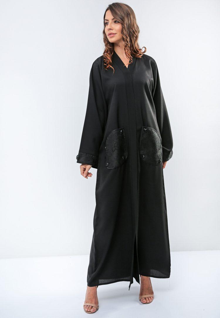 Patch Pocket Abaya-Roza