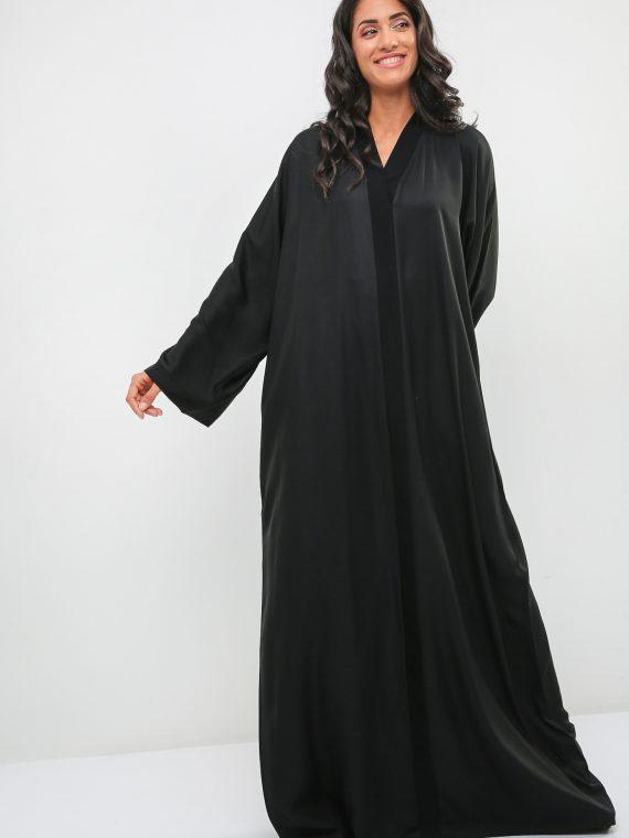 Plain Wide Sleeve Abaya-Haya