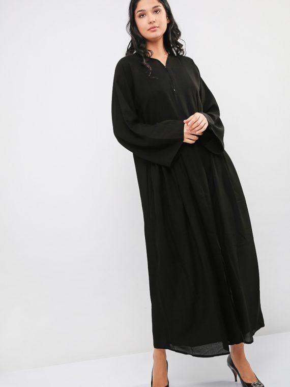 Pleated Pockets Abaya-MAHA ABAYAS
