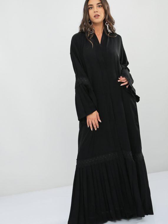 Pleated Sleeve Abaya-MAHA ABAYAS