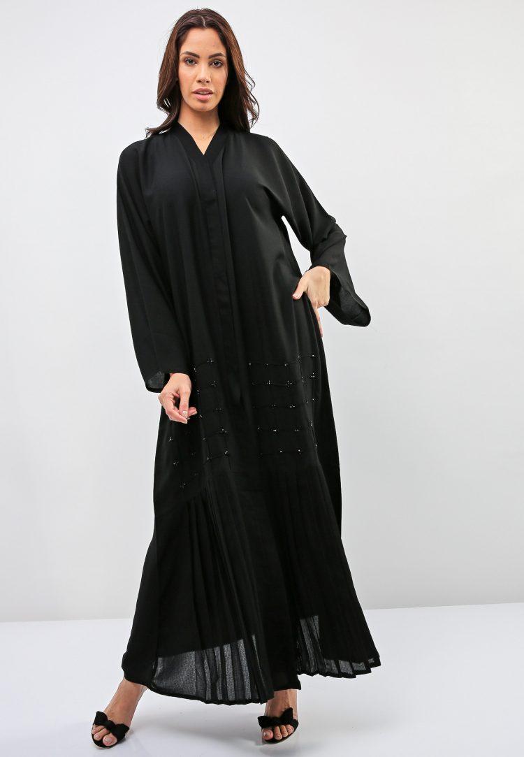 Pleated Styled Abaya-Bousni