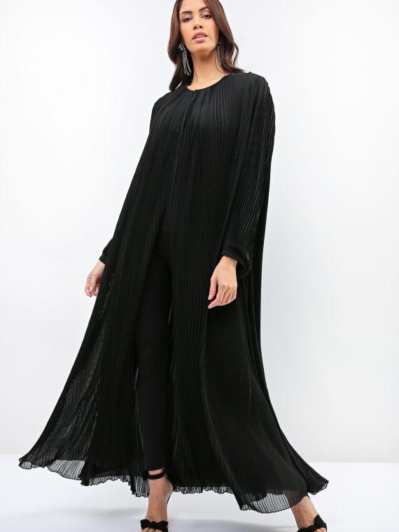Plica Pleated Detail Abaya-Feradje