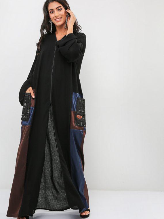 Pocket Detailed Abaya-Roza