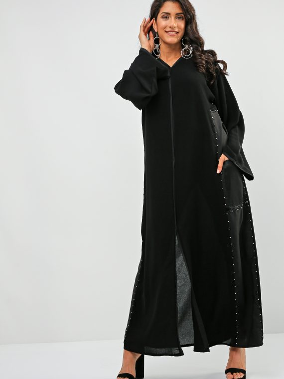 Pockets Beads Abaya-Bousni