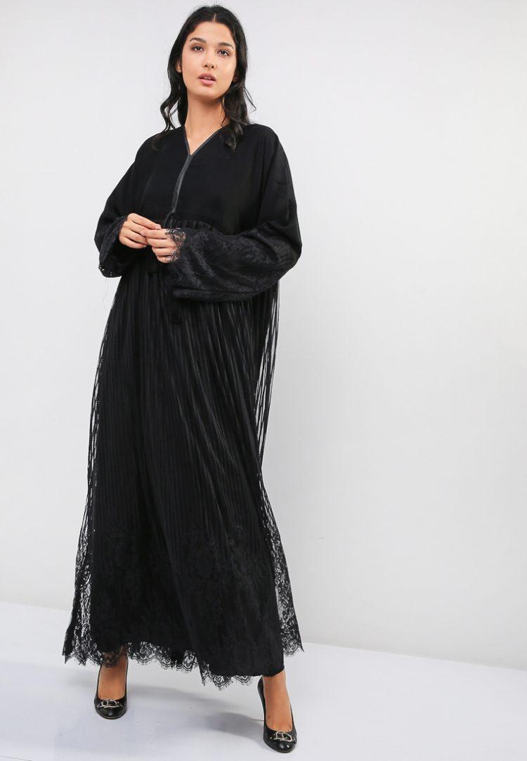 Premium Lace Detail Abaya-MAHA ABAYAS