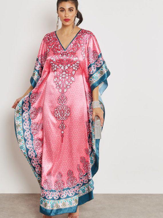 Printed Kaftan - Haya's Closet