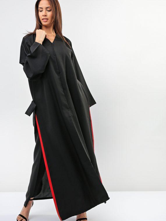 Side Slits Accented Abaya-Sara Arabia