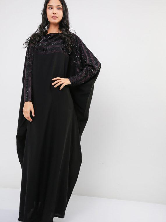 Stitch Detail Farasha Abaya-MAHA ABAYAS