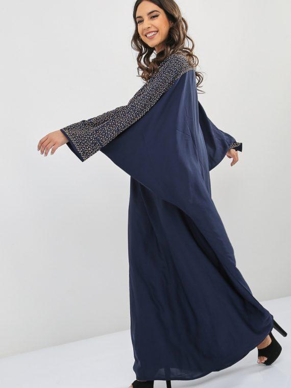 Studded Embellished Abaya-Bousni