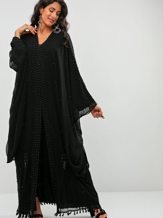 Tassel Hem Abaya-Bousni