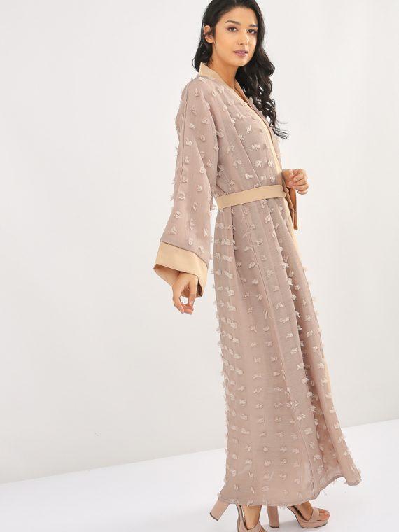 Tassled Belted Abaya-MAHA ABAYAS