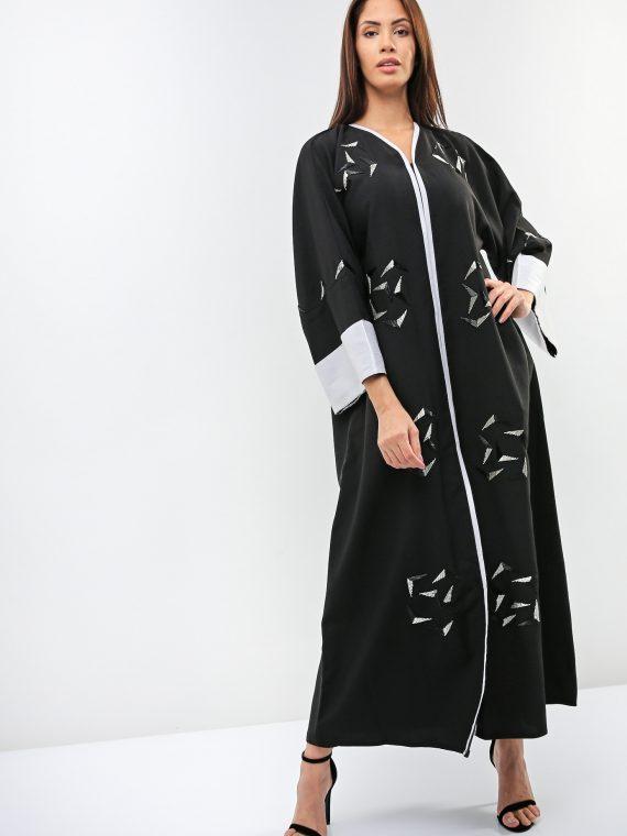 V-Shaped Beads Abaya-Sara Arabia