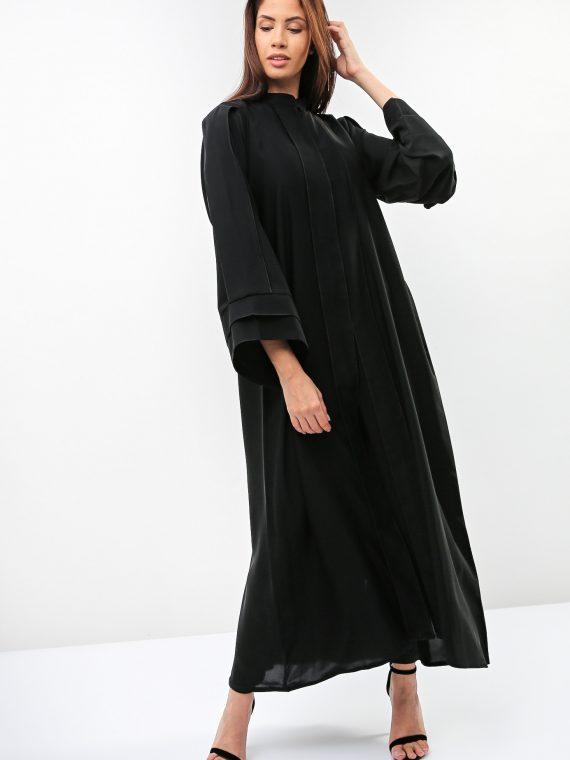 Wide Bell Sleeves Abaya-Sara Arabia