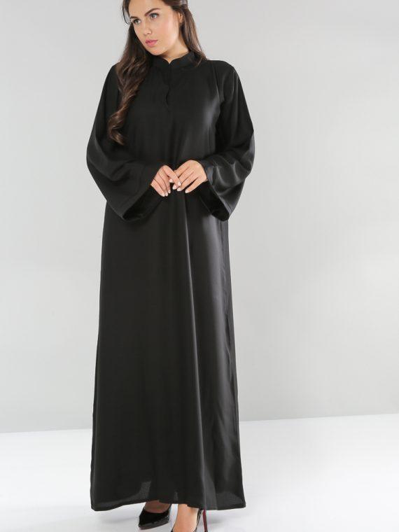 Wide Sleeve Bain Collar Abaya-Bousni